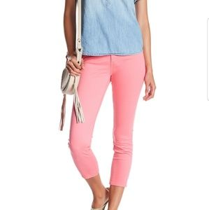 Pink 27 AG The Prima Crop Mid-Rise Cigarette Jeans